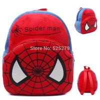 Mini School Bags Backpacks Children Mochila Infantil Cartoon Spider-man Backpack For 0-3 Year Baby Free shipping
