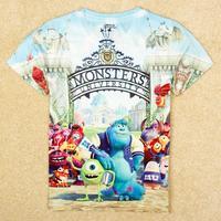 NOVA kids Monsters University boy short sleeve T-shirt Free Shipping C5232Y