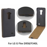 Magnetic Vertical Flip PU Leather Case For LG G Flex D958 F340L Free Shipping