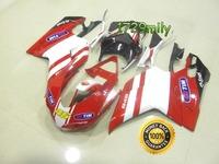 3 Layers Clear Coat 2007-2012 For Ducati 848 1098 1198 Moto Fairing Red 46 FFKDU004