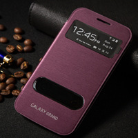 Original new phone cases skinfor Samsung galaxy Grand duos i9082 case High quality PU leather Battery back cover