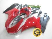 Injection Mold 2007-2012 For Ducati 848 1098 1198 Motor Fairing Red Black FFKDU004