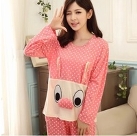 Summer fashion women's fashion clothing suit set arrival 2014 summer cotton home sexy pajamas woman big size full  Winter