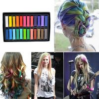 New 24 Colors Non-toxic Temporary Hair Chalk Dye Soft Pastels Salon Kit Pastel Chalk For Hair Chalking Free Shipping