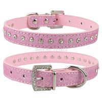 (30pcs/lot) Free Shipping Rhinestone Bling Bling Dog Collars for Pet
