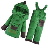 Wholesale! Winter New 2014 Children's Boys Girls Down Coat Jacket Pants Suit Kids Girls Clothing Sets Boy's set Free ship B1262