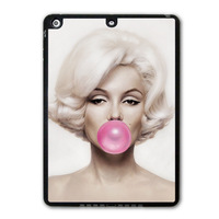 Marilyn Monroe Bubble Gum Protective Black TPU Cover Case For iPad 5 Air/iPad Mini A069