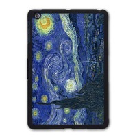 Famous Painter Vintage Oil Painting Starry Night Protective Black TPU Shell Cover Case For iPad 5 Air/iPad Mini A101