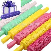 Rolling Pin Fondant Cake Sugarcraft Embossed Decorating Mold Gum Paste Tools