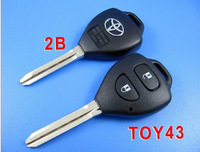 BRAND NEW Replacement Shell Remote Key Case Fob for TOYOTA Rav4 Corolla Hilux TOY43 2 BTN