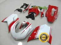 Factory Direct Sales For Ducati 848 Fairing Kits White And Red Racing Version FFKDU004