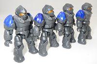 Lot of 4 Mega Bloks Dragons Universe Trooper Avila Figures Minifigs Loose