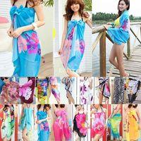 Women Summer Dress Ladies Chiffon Wrap Sarong Beach Swimwear Swimsuit Beach Bathing Suit Cover Up Bikini Scarf Pareo for Xmas