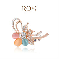 ROXI brand new arrival opal colorful flower brooch ,Christmas gift for women, Fashion Jewelry,2040002750B