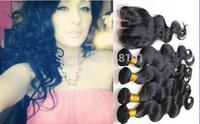 Brazilian Virgin Hair Extension Lace Top Closure With Brazilian Hair Virgin Bundles Body wave 3 way Part Lace Top Closure