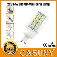 New arrival 220V 24 36 48 56 SMD E14 5730 led light lamp 110v corn bulbs 7W 12W G9 GU10 B22 E27 5730 led 15w 18W Pure/Warm white