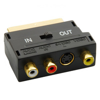 RCA to Scart Adapter For Video DVD Recorder TV Television Projector