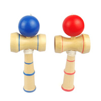 New arrive sword ball Professional Size:8.5cm Funny Japanese Traditional Wood Game Toy Kendama Ball colorful Kendama PU Paint