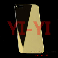 Hot!Free shipping,YI-YI Mirror Tempered Glass Back Body Protector for IPHONE 5G for iphone 5S for ipone 5C - Golden