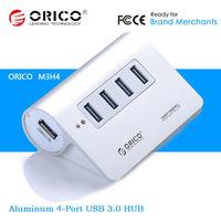 Orico M3H4 4Ports 4-Port Aluminum Metal USB 3.0 HUB External Extension Adapter For iMac Notebook Laptop PC