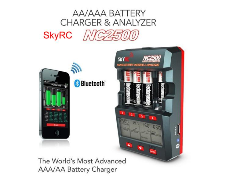 Newest SKYRC NC2500 Charger Bluetooth version Smartphone charging LCD display seven bottons charging charger Free shipping