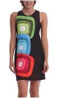 2014 Women's exaggerated print dress Desigual dress women brand new sleeveless mini skirt