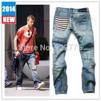 29-40#G827,New 2014 True Jeans Men,Italian Famous Brand Men's Jeans,Large Size Perfume Men Fashion Designer Skinny Denim Jeans