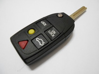 Drop shipping Brand New Uncut  5 Buttons Remote Fob  Replaced Flip Folding Key Shell Blank FOR VOLVO
