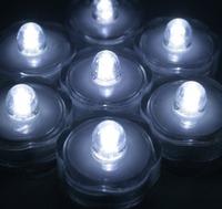 BlueDot Trading Submersible LED Tea Light, White, 24/Lot