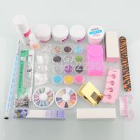 Free shipping  Nail Art Kit Set 12  colors Acrylic Nail Powder UV Gel Nail Dryer File Glue