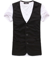The new fashion 2014 men leisure vest / Cultivate one's morality men's business color knit suit vest Asia S M L XL XXL