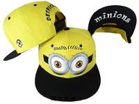 2014 New Minions Cartoon Snapback Hats Fashion Mens Women Hip Hop Cartoon Baseball Caps 3 styles Hip Hop Cap Domo Pegman Hat