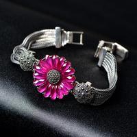 Very Thai Sunflower bracelet 925 silver jewelry retro palace 2014 genuine new wave of people
