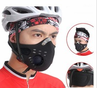 Hot Sell NEW Outdoor Sports Bike Mouth-muffle Dustproof Face Filter Air Pollutant Mask With Activated carbon Free Shipping