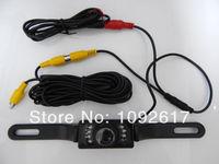 Car Reversing Camera Rear View Backup Parking License Plate Night Vision Cam free shipping