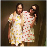 2014 New Fashion  Women Clothing Cute Cotton  Casual Dress in Stock Free Shipping