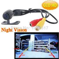 HD 12V 170 deg Mini Color CCD Reverse Backup Car Front Rear View Camera Night Vision
