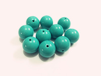 New !  20mm100pcs/lot Cyan  Acrylic Solid Beads ,Chunky Beads For Kids Necklace