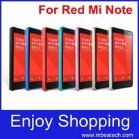 1 pcs free shipping Top Quality New 2014 xiaomi redmi note ultra thin slim aluminium metal bumper frame