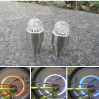 Lotus Hot Wheels head short A Pair Valve Cap led Bicycle Bike Light Tire Wheel Gas Nozzle Lamps Valve Core