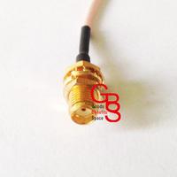 10pcs/lot Single SMA female Pigtail Cable 15CM 1.78 SMA female cable