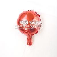 * Red *6 inch round aluminum film balloon pure aluminum foil balloons wedding venue