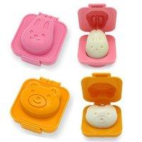 6pcs/ set Fish Car Heart Shape Egg Sushi Rice Mold Mould Decorating Fondant Cake Tool