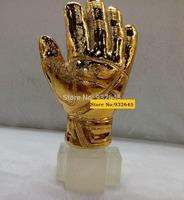 Cool!2014 RESIN 31cm tall Soccer TROPHY,Football Souvenir world cup Gold Glove award REPLICA best goalkeeper gift,Free shipping