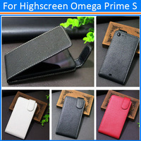 Free shipping 2014 new item for Highscreen Omega Prime S high quality PU leather case open up and down
