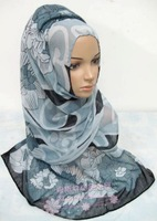 12 pcs/lot 170*185 cm Voile Muslim scarf, hijab scarf , wedding scarf ,for wholesale ,printing scarf ,on promotion,colors random