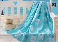 Summer cotton towel Single thick cotton towel blanket Children nap blanket Cartoon air conditioning blanket  Wholesale