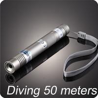 Waterproof 520nm 150mW green handheld laser diving 50memter  with black hard case