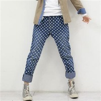 2014 new Korean style maternity jeans fashion  pencil pants maternity jeans free shipping W7406