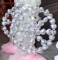 * SILVER heart-shaped *6 inch aluminum film balloon love type solid aluminum foil balloons wedding venue